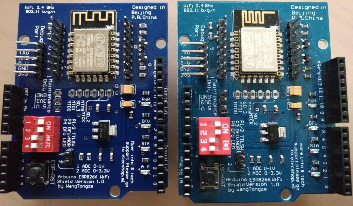 Arduino ESP8266 WiFi Shield (elecshop ml) by WangTongze